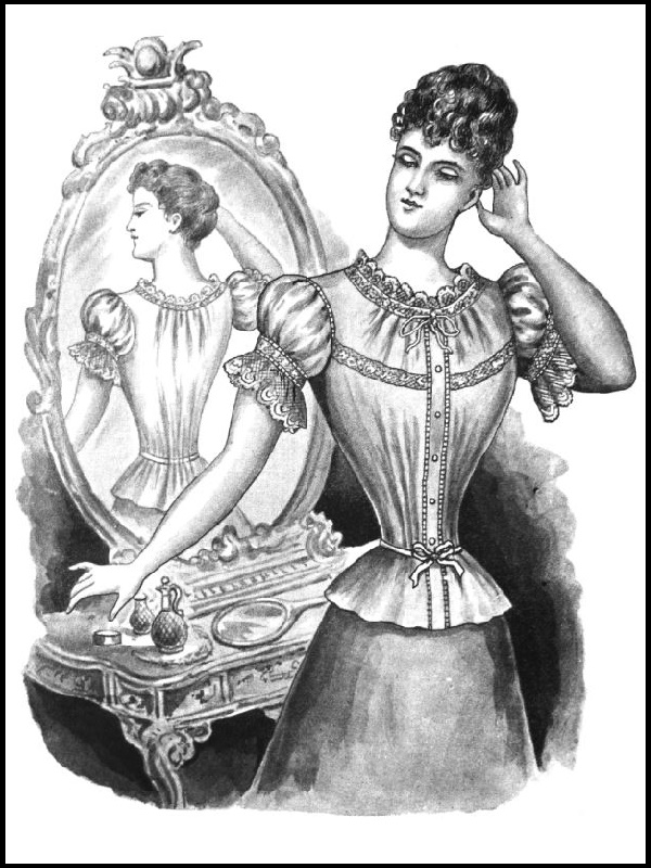 1895 CORSETRY: Pattern 1766: Lady's Corset Bodice