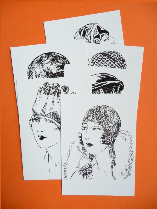 1920s MILLINERY: hats from 'Madame Weigel's Journal of Fashion'