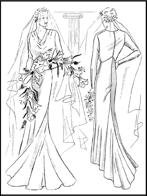 BRIDAL ELEGANCE: Pattern 6177: Bride's Dress (1935)