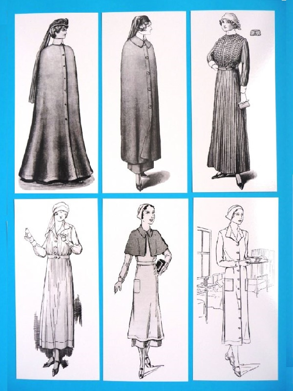 NURSING UNIFORMS: Six of Madame Weigel's Nursing Outfit Patterns (1901-1932)