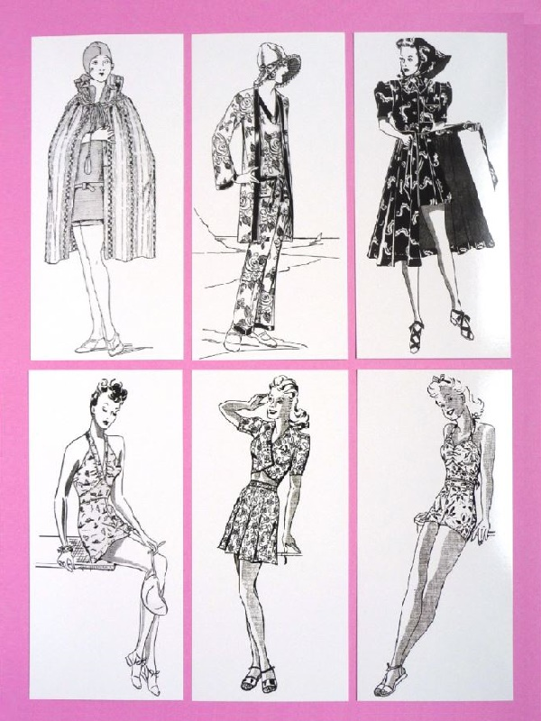 SUMMER BATHING: Six Madame Weigel's bathing suit patterns (1928-45)